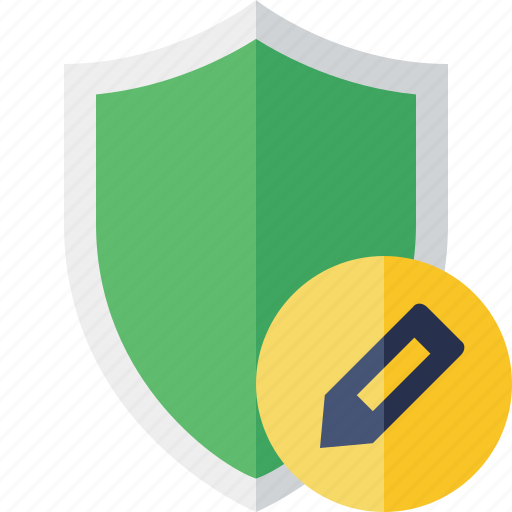 Edit, protection, safety, secure, security, shield icon - Download on Iconfinder