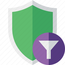 filter, protection, safety, secure, security, shield icon