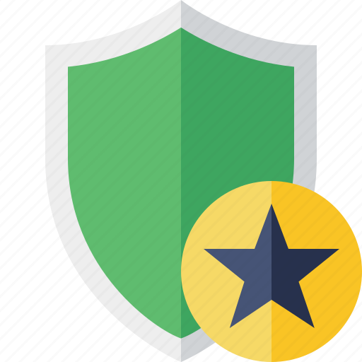 protection, safety, secure, security, shield, star icon