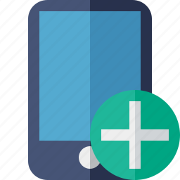 add, device, iphone, mobile, phone, smartphone icon