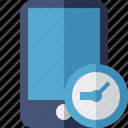 clock, device, iphone, mobile, phone, smartphone icon