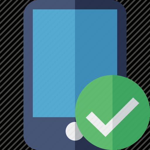 device, iphone, mobile, ok, phone, smartphone icon