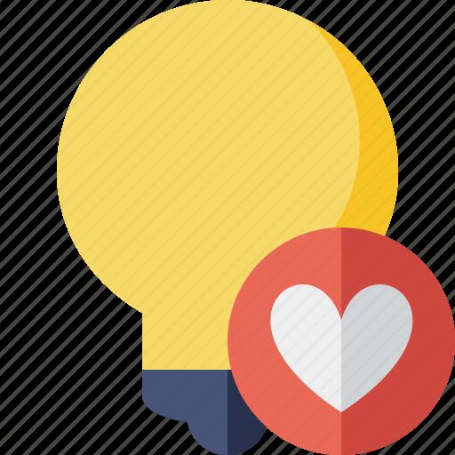 bulb, favorites, idea, light, tip icon