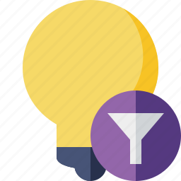 bulb, filter, idea, light, tip icon
