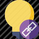 bulb, idea, light, link, tip