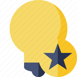 bulb, idea, light, star, tip icon
