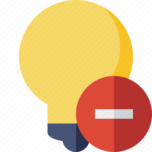 bulb, idea, light, stop, tip icon