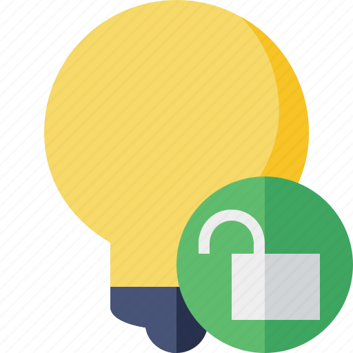 bulb, idea, light, tip, unlock icon