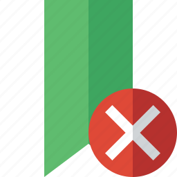 book, bookmark, cancel, favorite, green, tag icon