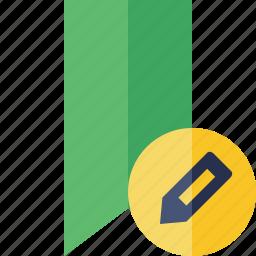 book, bookmark, edit, favorite, green, tag icon