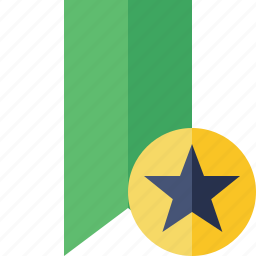 book, bookmark, favorite, green, star, tag icon