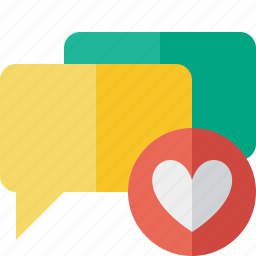 bubble, chat, communication, favorites, message, talk icon