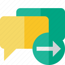 bubble, chat, communication, message, next, talk icon