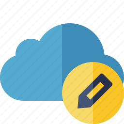 blue, cloud, edit, network, storage, weather icon