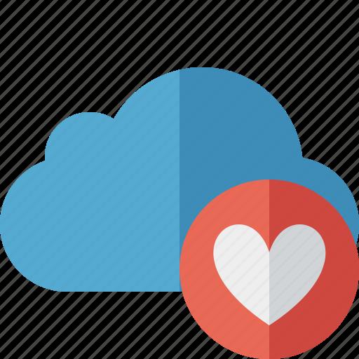 blue, cloud, favorites, network, storage, weather icon