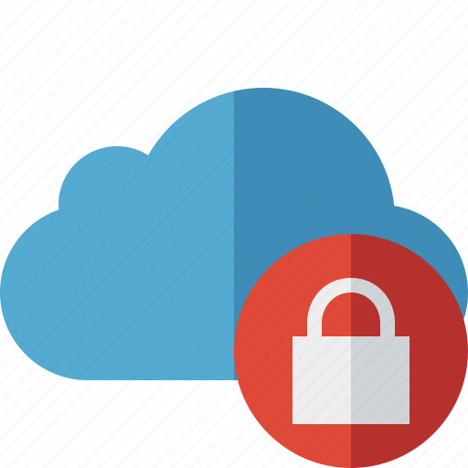 blue, cloud, lock, network, storage, weather icon