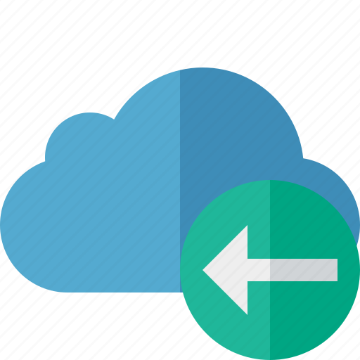 blue, cloud, network, previous, storage, weather icon