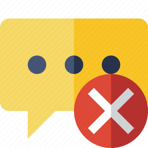 bubble, cancel, chat, comment, message, talk icon