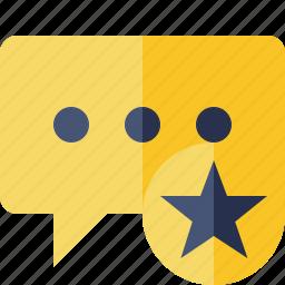 bubble, chat, comment, message, star, talk icon