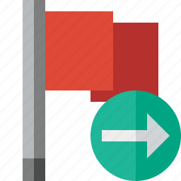 flag, location, marker, next, pin, point, red icon