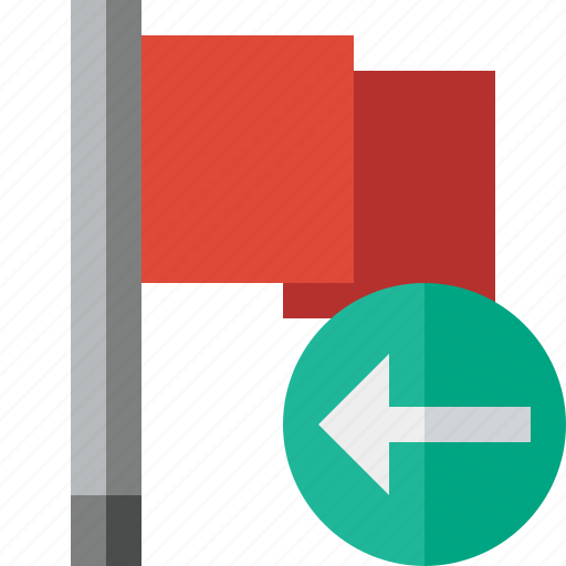 Flag, location, marker, pin, point, previous, red icon - Download on Iconfinder