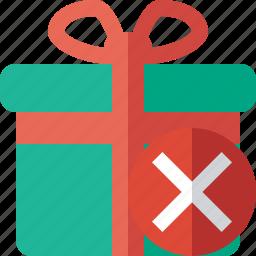 box, cancel, christmas, gift, present, xmas icon