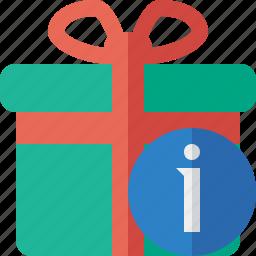 box, christmas, gift, information, present, xmas icon