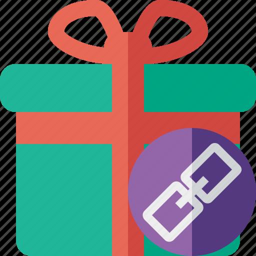 box, christmas, gift, link, present, xmas icon