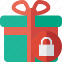 box, christmas, gift, lock, present, xmas icon