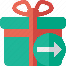 box, christmas, gift, next, present, xmas icon