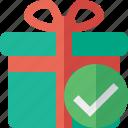 box, christmas, gift, ok, present, xmas icon