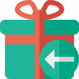 box, christmas, gift, present, previous, xmas icon