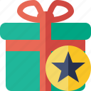 box, christmas, gift, present, star, xmas icon