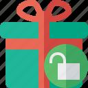box, christmas, gift, present, unlock, xmas icon