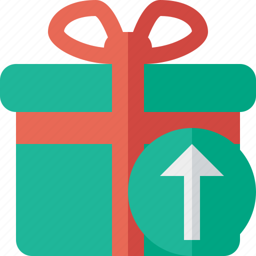 box, christmas, gift, present, upload, xmas icon