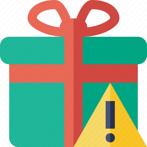box, christmas, gift, present, warning, xmas icon