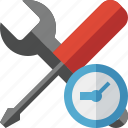 clock, options, preferences, settings, tools icon
