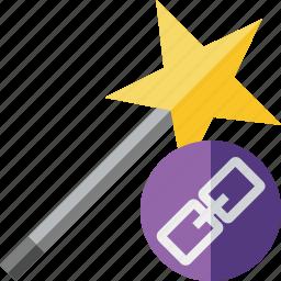 link, magic, tool, wand, wizard icon