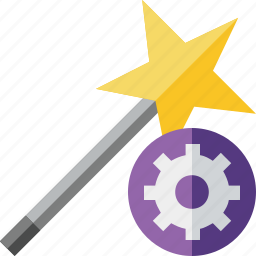 magic, settings, tool, wand, wizard icon