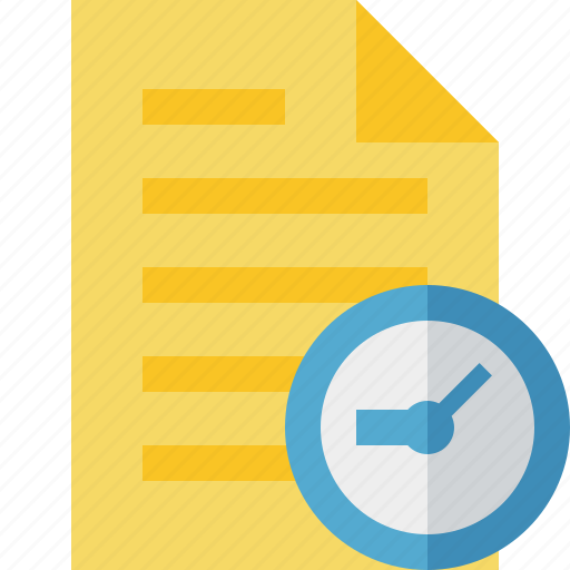 clock, document, file, page, text icon
