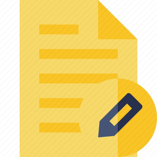document, edit, file, page, text icon