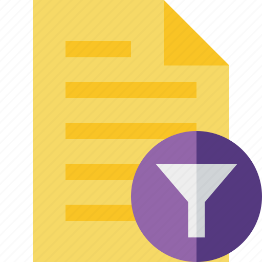 Document, file, filter, page, text icon - Download on Iconfinder