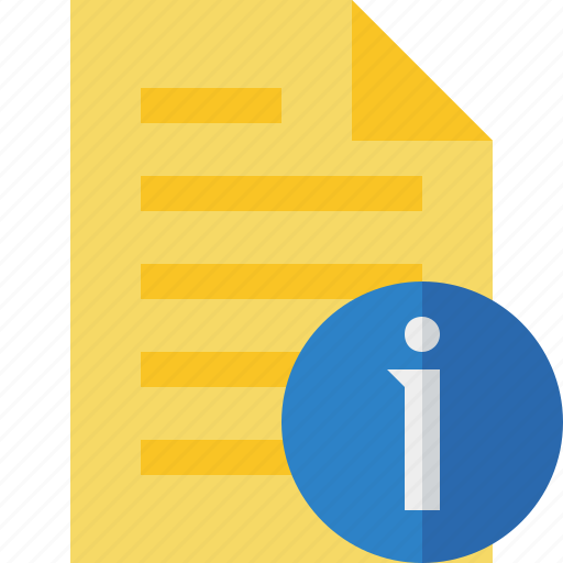 document, file, information, page, text icon