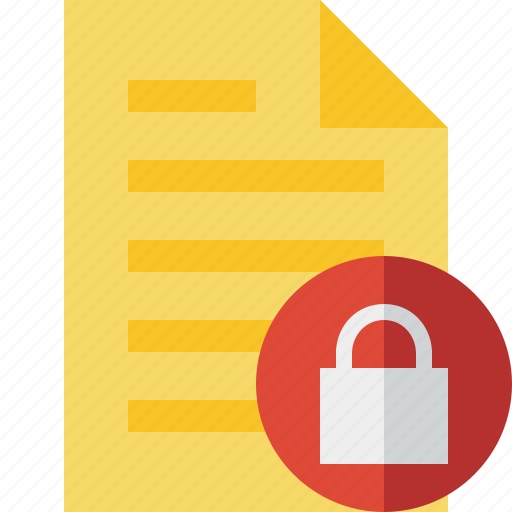 document, file, lock, page, text icon