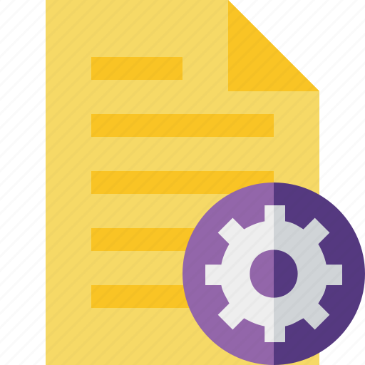 document, file, page, settings, text icon