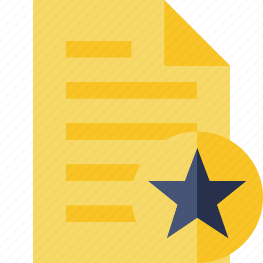 document, file, page, star, text icon