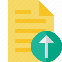 document, file, page, text, upload icon
