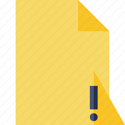 blank, document, file, page, warning icon