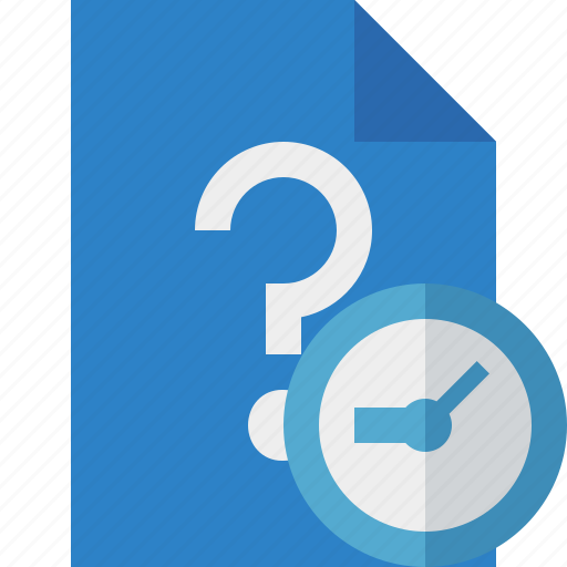 clock, document, file, help, page, support, ticket icon