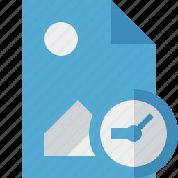 clock, document, file, image, picture icon